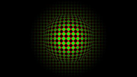 Мяч, тень, яркая, поверхность, точка