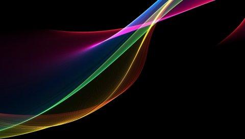 Дым, размытый, фон, красочный, радуга