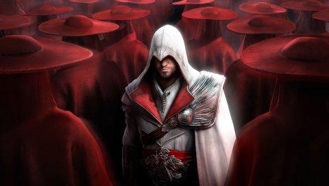 Кредо убийц, Десмонд-Милл, шляпы, красный, взгляд