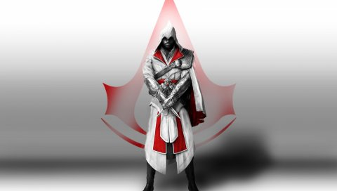 Ассасины вероисповедания, мины денмингов, символ убийц, ножи, капюшон