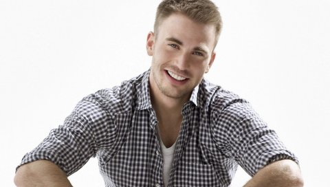Крис Эванс, актер, парень, обаятельный, улыбающийся