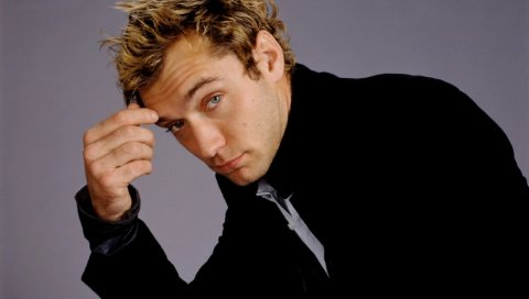 Jude law, актер, мужчина, куртка, блондин, задумчивый