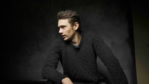James franco, актер, мужчина, брюнетка, свитер, щетина