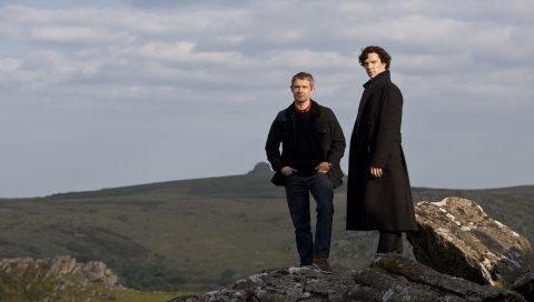Benedict cumberbatch, martin freeman, актер, горы, стильные, мужчины