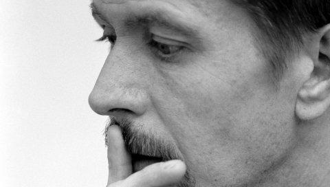 Gary oldman, мужчина, актер, лицо, щетина, профиль, черный и белый