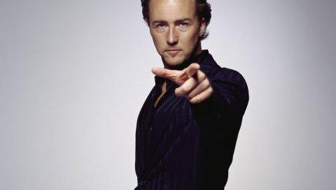 Edward norton, актер, рубашка, стильный, кудрявый, мужчина
