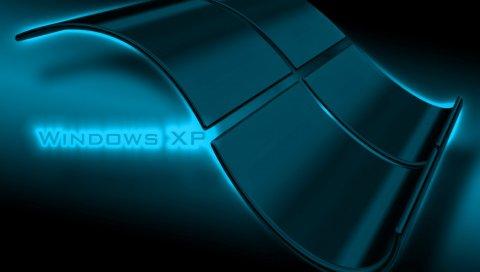 Windows xp, система, стекло, фон, тень