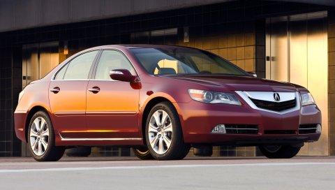 Acura, rl, 2008, красный, вид сбоку, стиль, седан, авто, асфальт, здание