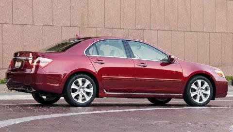 Acura, rl, 2008, красный, вид сбоку, седан, стиль, автомобили