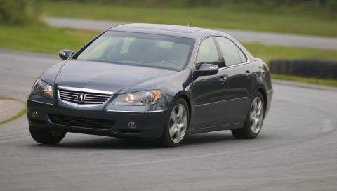 Acura, rl, черный, вид спереди, стиль, автомобили, скорость, движение, вращение, асфальт