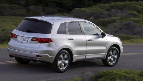Acura, rdx, металлическое серебро, джип, вид сзади, стиль, автомобили, природа, скорость