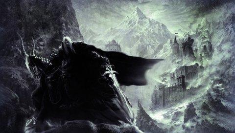 Мир warcraft, характер, гора, дом, холод