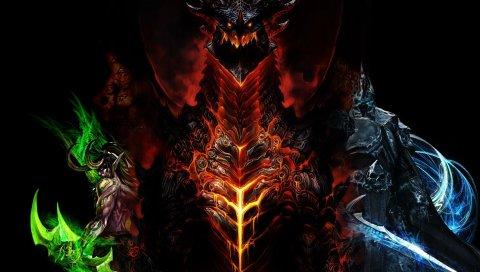 Мир Warcraft, дракон, персонажи, лица