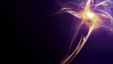 Лучи, свет, тромб, тень