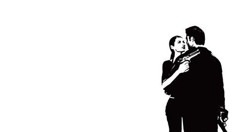Max payne, женщина, пистолет, взгляд, лицо, пистолеты