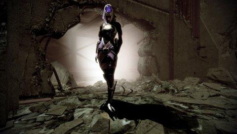 Массовый эффект, тали зора, стена, зал, свет, тень