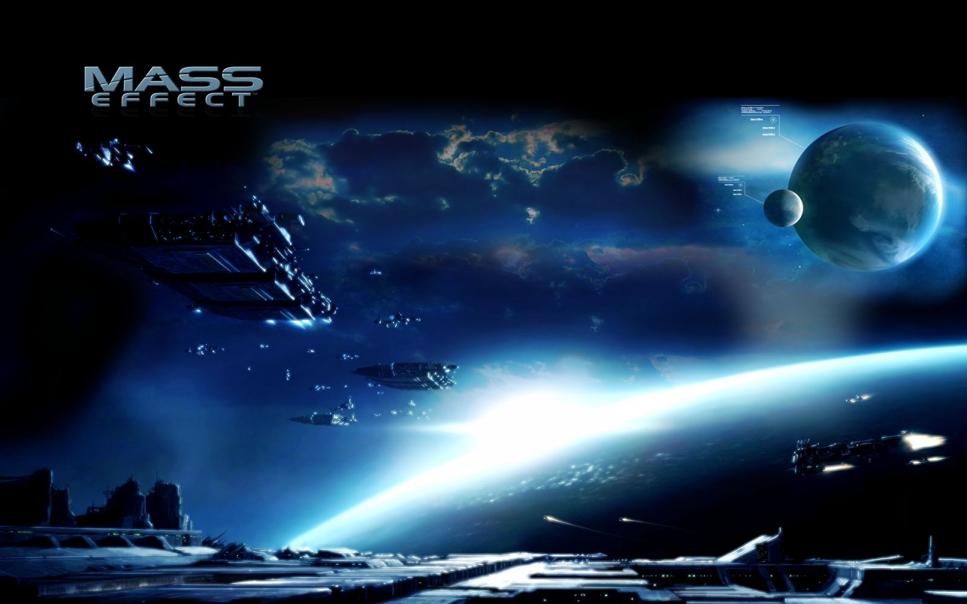 Картинки Массовый эффект 3, космос, планеты, корабли, свет фото и обои на рабочий стол