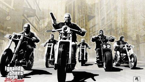 Gta, грандиозный кражи авто 4, потеря и проклятый, мотоцикл, пистолет