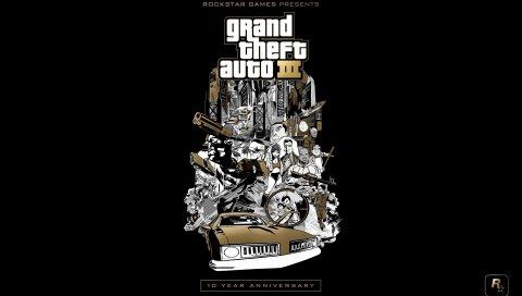 Gta, grand theft auto 3, графика, автомобиль, персонажи