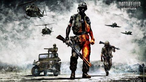 Битва, плохая компания 2, вьетнам, солдаты, оборудование