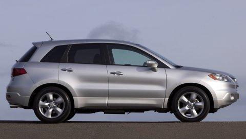 Acura, rdx, металлическое серебро, менеджер, вид сбоку, стиль, автомобили, небо, асфальт