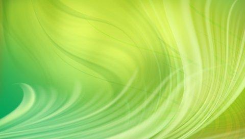 Линии, свет, зеленый, водоросли