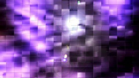 Сетка, поверхность, свет, свет, тени, отражения