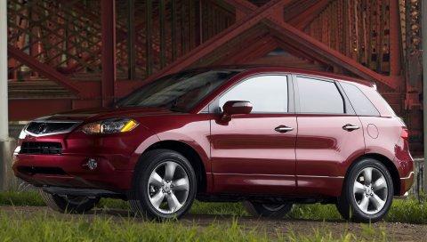 Acura, rdx, красный, вид сбоку, стиль, автомобили, трава