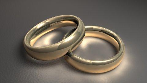 Кольцо, пара, золото, свадьба