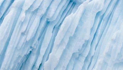 Ледник, полоски, белый