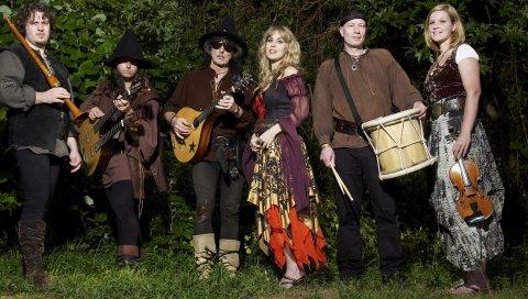 Blackmores ночь, группа, девушки, инструменты, платья