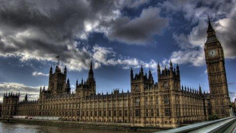 Thames, big ben, london, hdr