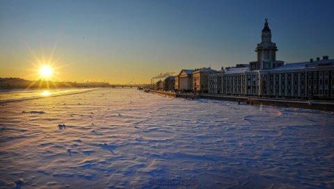 Санкт-Петербург, зима, площадь, здание, снег