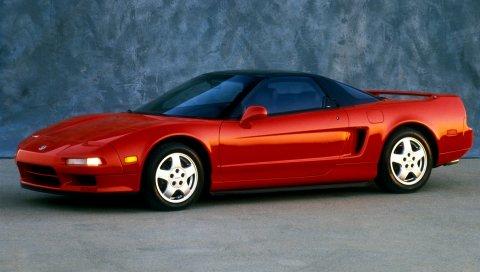 Acura, nsx, красный, спорт, вид сбоку, авто, стиль