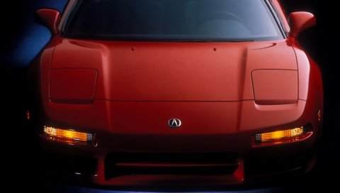 Acura, nsx, красный, спорт, вид спереди, тюнинг, неон, авто