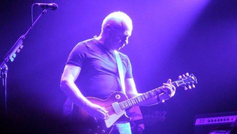 Mark knopfler, гитара, свет, микрофон, игра