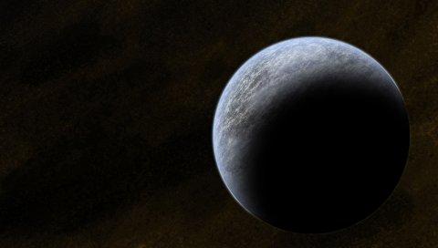 Планета, сфера, черный, свет