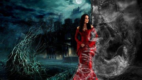 Tarja, изображение, графика, замок, луна