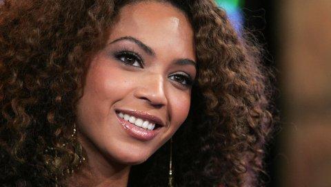 Beyonce, девушка, брюнетка, певец, улыбка, глаза