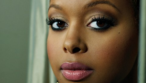 Chrisette michele, лицо, губная помада, губы, глаза