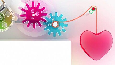 Сердце, фигуры, пластик, механизм