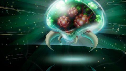 Мозг, составляющий, мяч, интерьер, свет, рог