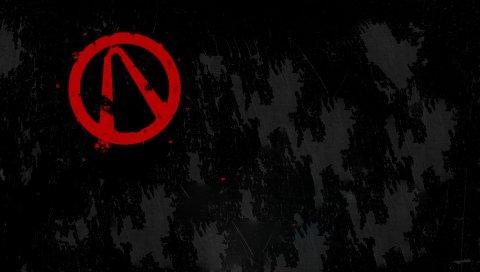 Абстрактный, черный, красный, знак