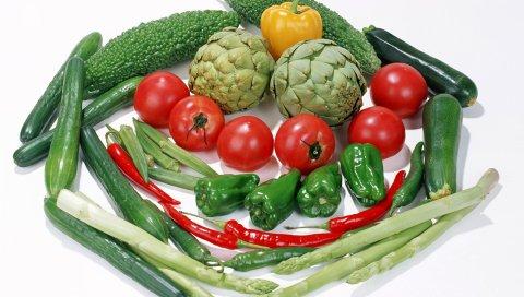 Овощи, перец, огурцы, помидоры, ассорти
