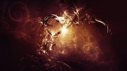 Огонь, круг, свет, взрыв
