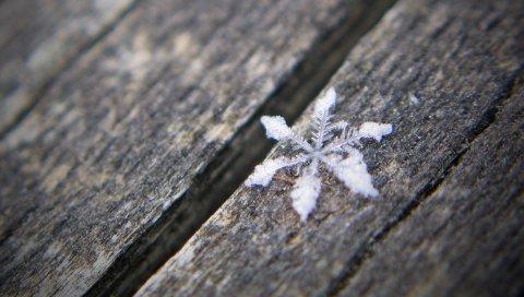 Снежинка, поверхность, деревянный, черный белый