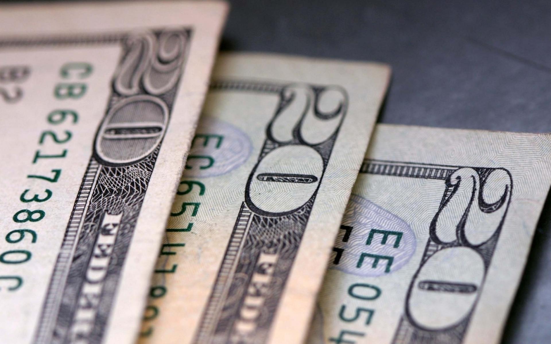 Картинки Доллары, банкноты, двадцать, бумага, деньги фото и обои на рабочий стол