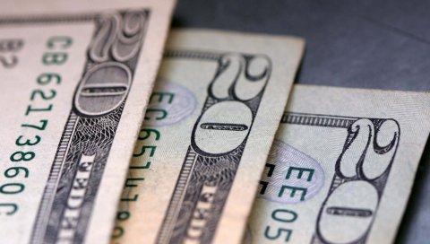 Доллары, банкноты, двадцать, бумага, деньги
