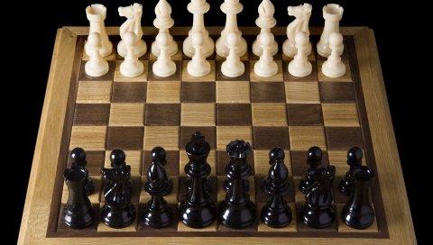 Доска, игра, шахматы, партия, цифры, черный, белый