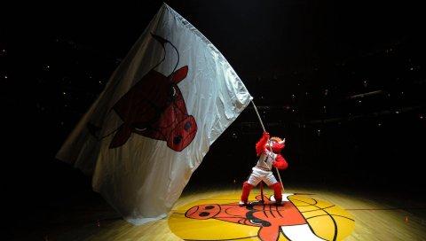 Чикаго быков, баскетбол, эмблема, символ, флаг, вентилятор
